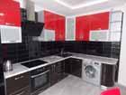 Черно-красная кухня под заказ в Минске